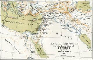 Syria Mesopotamia Parthians EMP 1886 Antique Map Print