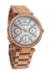 Michael Kors MK5616 parker chrono white dial rose gold steel bracelet