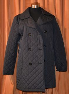 Michael Kors Black Quilted Nylon Jacket Coat Womens XL