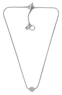 MICHAEL KORS Sparkle Silver Necklace NWT   FREE US / CANADA shipping
