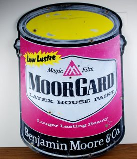 MoorGard Benjamin Moore and Co 35 Paint Can Metal Sign Product Image