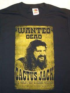 Cactus Jack Mick Foley Mankind Wanted T Shirt TNA New