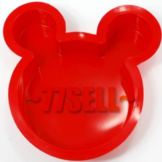 Cute Mickey Mouse Ears Silicone Mold Cake Pan Party