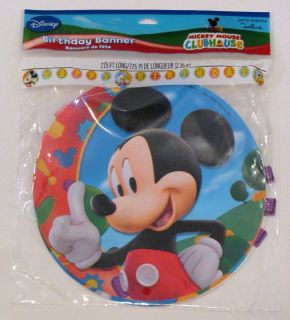 Disney Mickey Mouse Party Plastic Happy Birthday Banner Hallmark