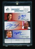 Card that Features Michael Jordan, Lebron James & Tracy Mcgrady