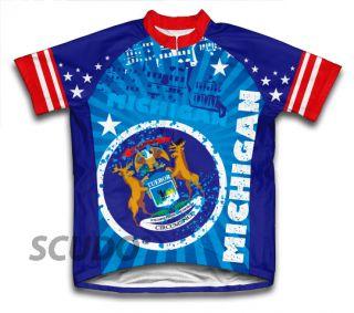 Michigan Cycling Jersey All Sizes Bike