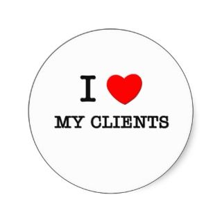 Love My Clients Round Sticker