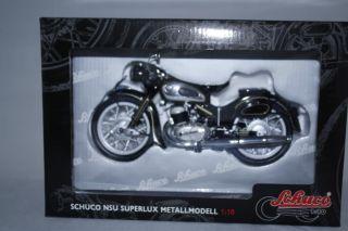 Schuco 1 10 NSU Max Superlux Metallmodell Motorcycle Bike 1954 1956