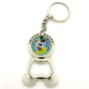 Disney Mickey Mouse Bottle Opener Key Ring Keychain