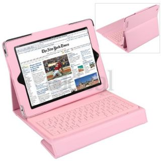 Wireless Bluetooth Keyboard Leather Case Stand for iPad 2 3