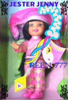 Jenny Kelly Barbie Renaissance Middle Ages Doll Raven Hair 1999