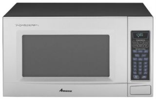 Amana 2 0 CU Countertop Microwave 1100WATTS AMC2206BAS Stainless Black