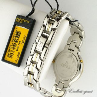 Fendi Ladies Swiss Made 920J Watch Two Tone Registered Model Stainless