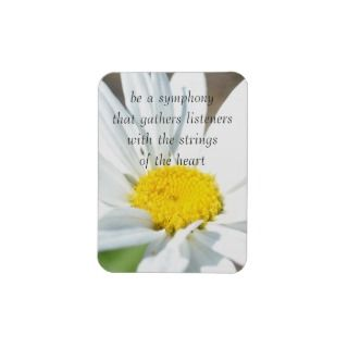 Heart Strings Daisy  Soul Poetry Flexible Magnets