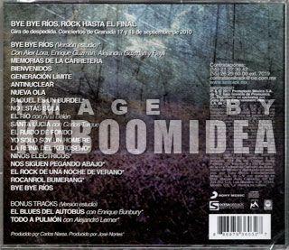Miguel RIOS Bye Bye Bye CD 2011 TCK w Alex Lora Enrique Bunbury