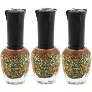 KLEANCOLOR Gold Colorful Firework Lacquer Nail Polish