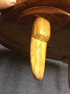 Unique One of A Kind Wood Carved Maui Island Table Incredible