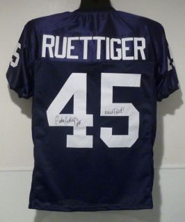 Rudy Ruettiger Autographed Signed Notre Dame Irish Size XL Jersey w