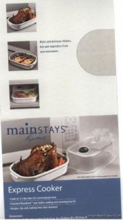 Mainstays Home Express Cooker Microwave Steamer w Rack