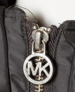 Michael Michael Kors Dark Gray Faux Fur Trimmed Hooded Coat Sz S