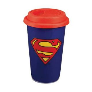 DC Comic 18oz Ceramic Coffee Mug and 12oz Ceramic Travel Mug Gift Set