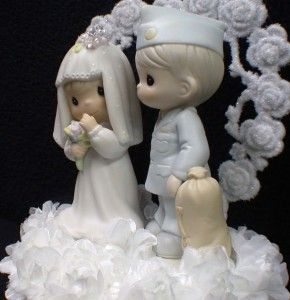 Precious Moments Military Wedding Cake Topper Soldier 2AMRY Navy