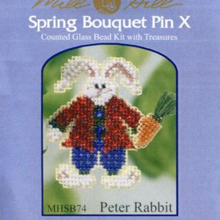 Rabbit Beaded Cross Stitch Kit Mill Hill 2003 Spring Bouquet