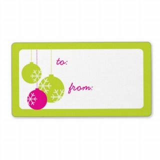 Retro Modern Holiday Ornaments Christmas Gift Tags Shipping Label