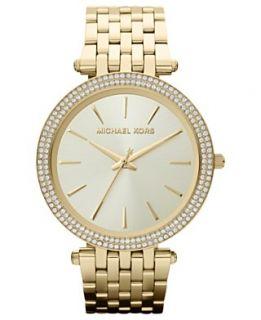 Michael Kors Watch, Womens Darci Gold Tone Stainless Steel Bracelet