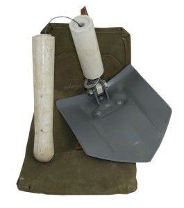 Czech Army Folding Shovel w Case