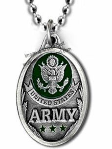US Army Necklace Eagle Seal Emblem Military Pendant