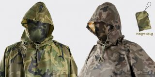 100 Waterproof Hooded Poncho Army Military Ripstop