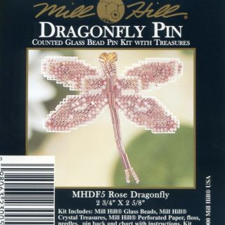 Dragonfly Beaded Cross Stitch Kit Mill Hill 2000 Spring Bouquet