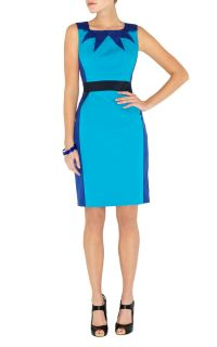 BNWT Karen Millen Graphic Colour Blue Multi Dress DN151 Size 12