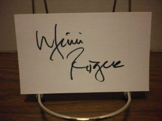 Mimi Rogers Autograph Index Card Gorgeous Actress Signed Signature COA