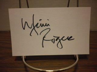 Mimi Rogers Autograph Index Card Gorgeous Actress Signed Signature COA