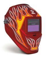 Miller Pro Hobby Red Flame Welding Helmet 256168
