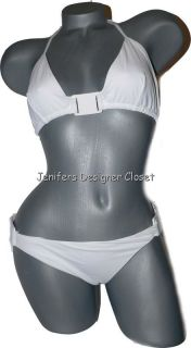 Michael Kors White Contour Bikini Swimsuit 14 $177