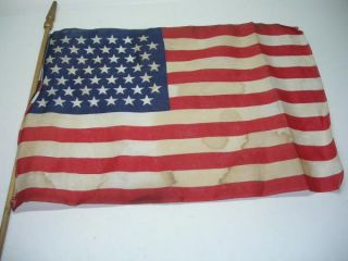 Vintage 49 Star United States American Flags on Sticks
