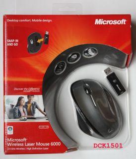 Microsoft High Definition Wireless Laser Mouse 6000 QVA 00001