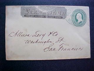 Wells Fargo Milpitas California 3c Entire Cover Large Blue Oval Cancel