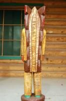 Foot Native American Frank Gallagher Cigar Store Wooden Indian