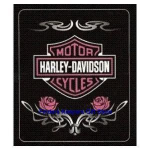 Harley Davidson Bedding Pink Tattoo Blanket Throw Apparel Merchandise