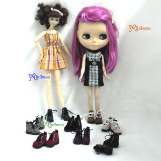 Mimi Collection 12 Neo Blythe Pullip Momoko Obitsu Doll Shoes Velvet