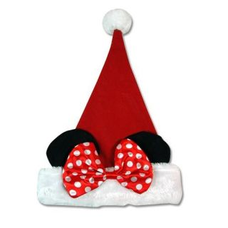 Disney Minnie Mouse 16 Plush Christmas Santa Hat   Ears X mas Kids