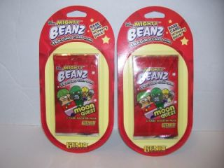 2004 Mighty Beanz Trading Card Game 2 Booster Packs New