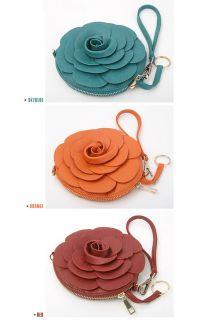 New Vivid Color Lovely Flower Shoulder Mini Bag Clutch