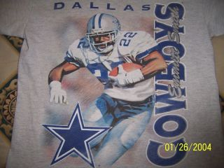 Dallas Cowboys Emmitt Smith T Shirt Child Boys Med