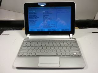 HP Mini 210 2145dx Netbook 1 66GHz Atom 1GB No Hard Drive Laptop as Is