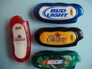 NASCAR Molson Budweiser BIC Mini Lighter Case Holder
